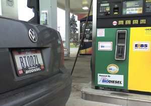 Biodiesel Car at Biodiesel Filling Station